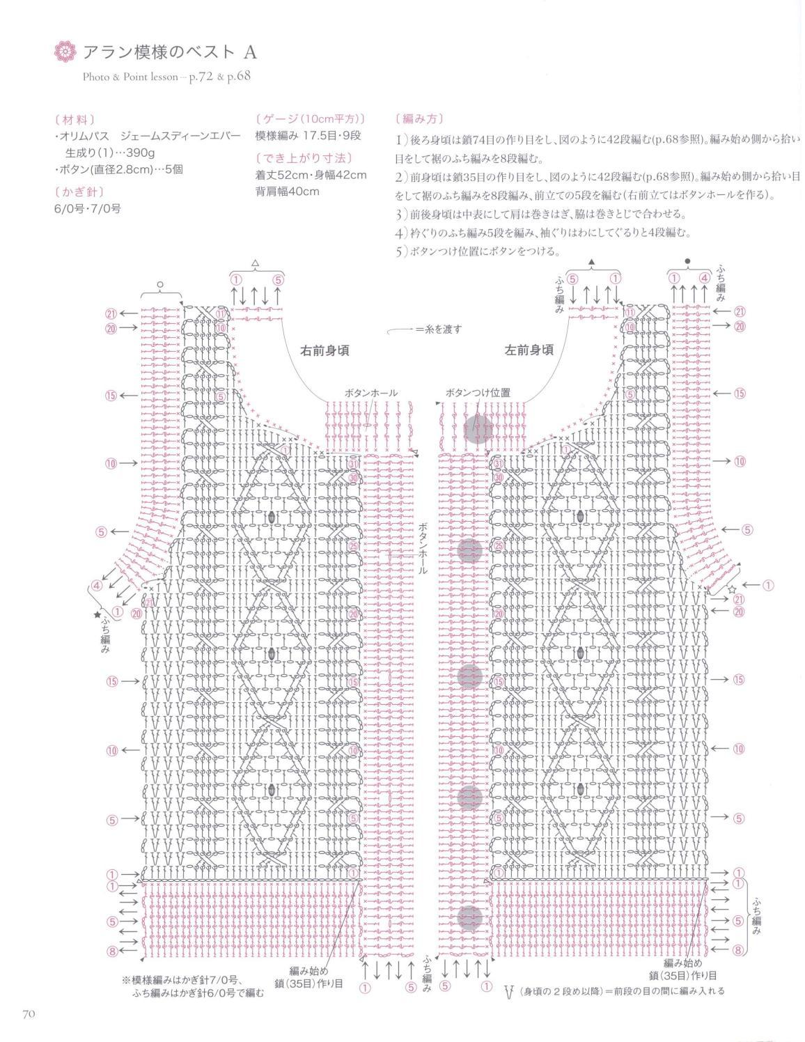 Asahi original crochet best selection 2012 page 70