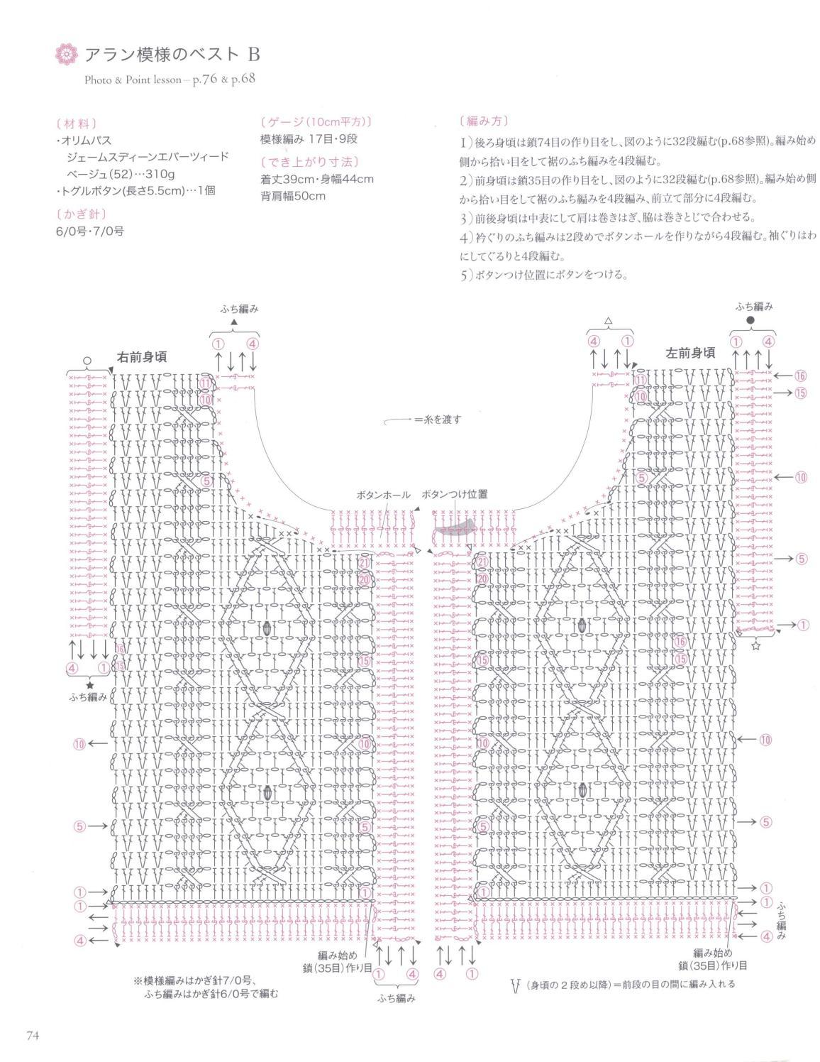 Asahi original crochet best selection 2012 page 74