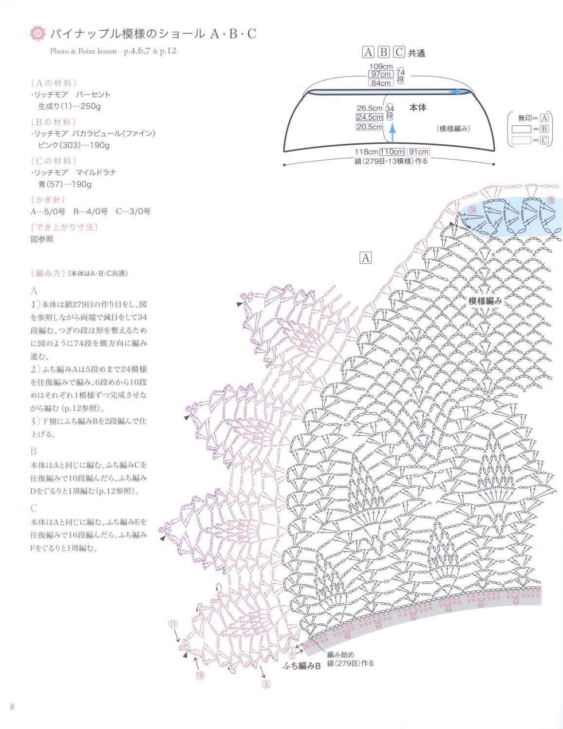 Asahi original crochet best selection 2012 page 8