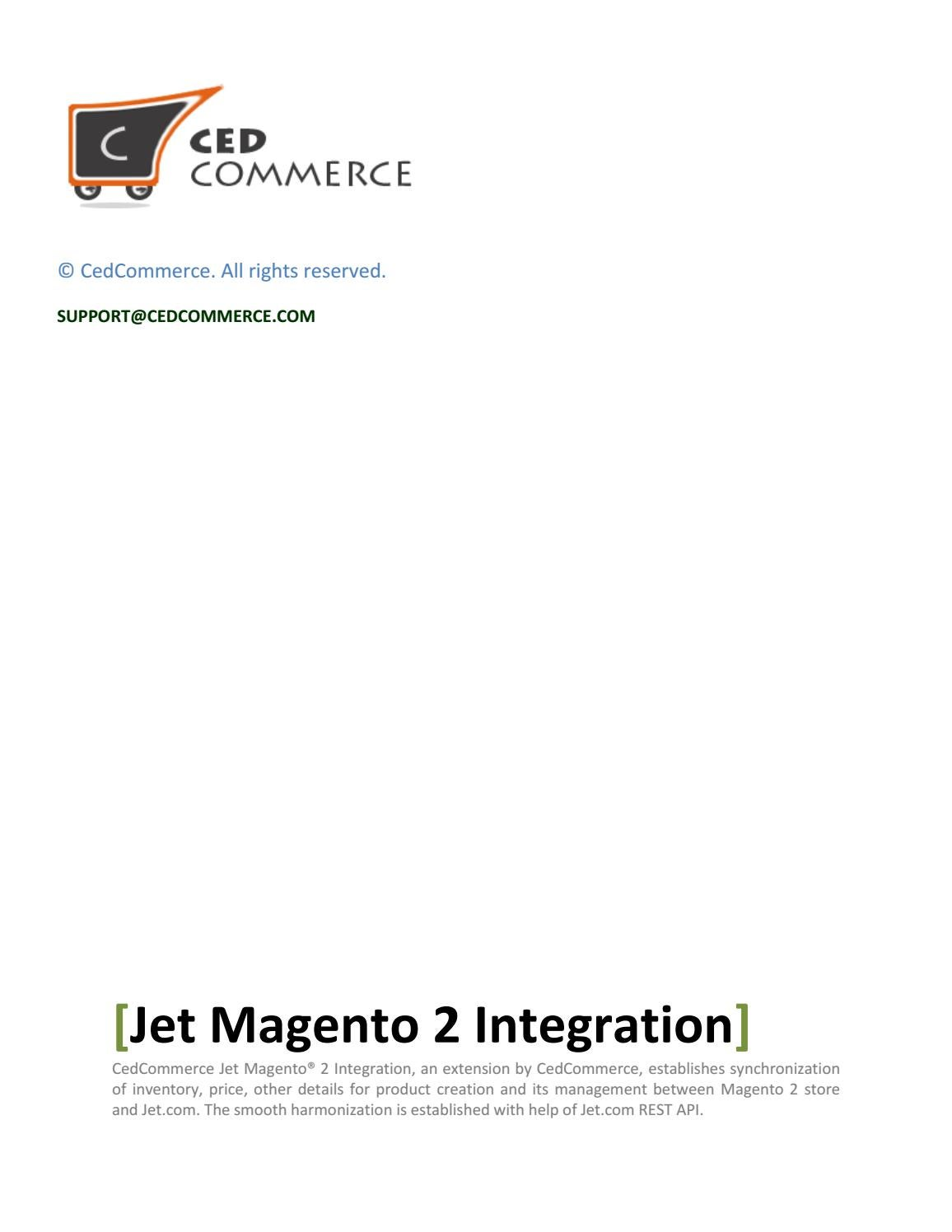 Jet Magento 2 Integration User Manual By CedCommerce by