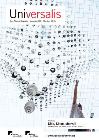 UNIVERSALIS Nr. 8 by Alanus Hochschule - issuu