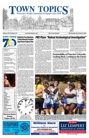 Town Topics Newspaper November 2 2016 By Witherspoon Media Group