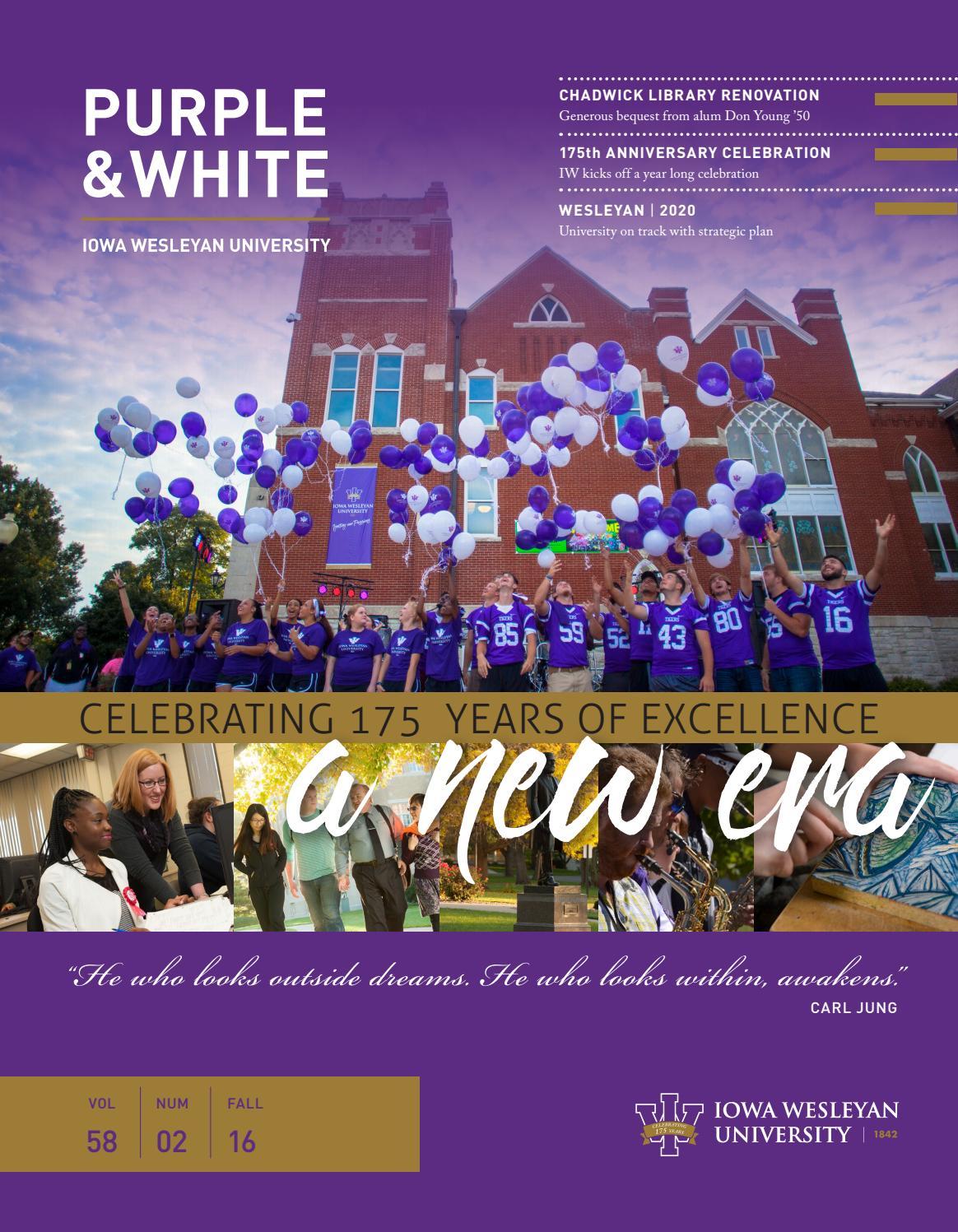 Purple White Fall 2016 By Iowa Wesleyan University Issuu