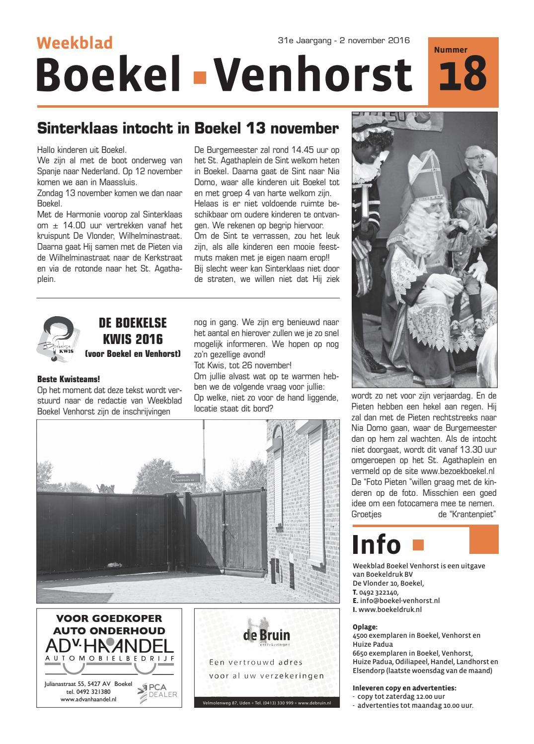 08d7e6a3e56 31e jaargang nr 18, 2 november '16 by Boekeldruk - issuu