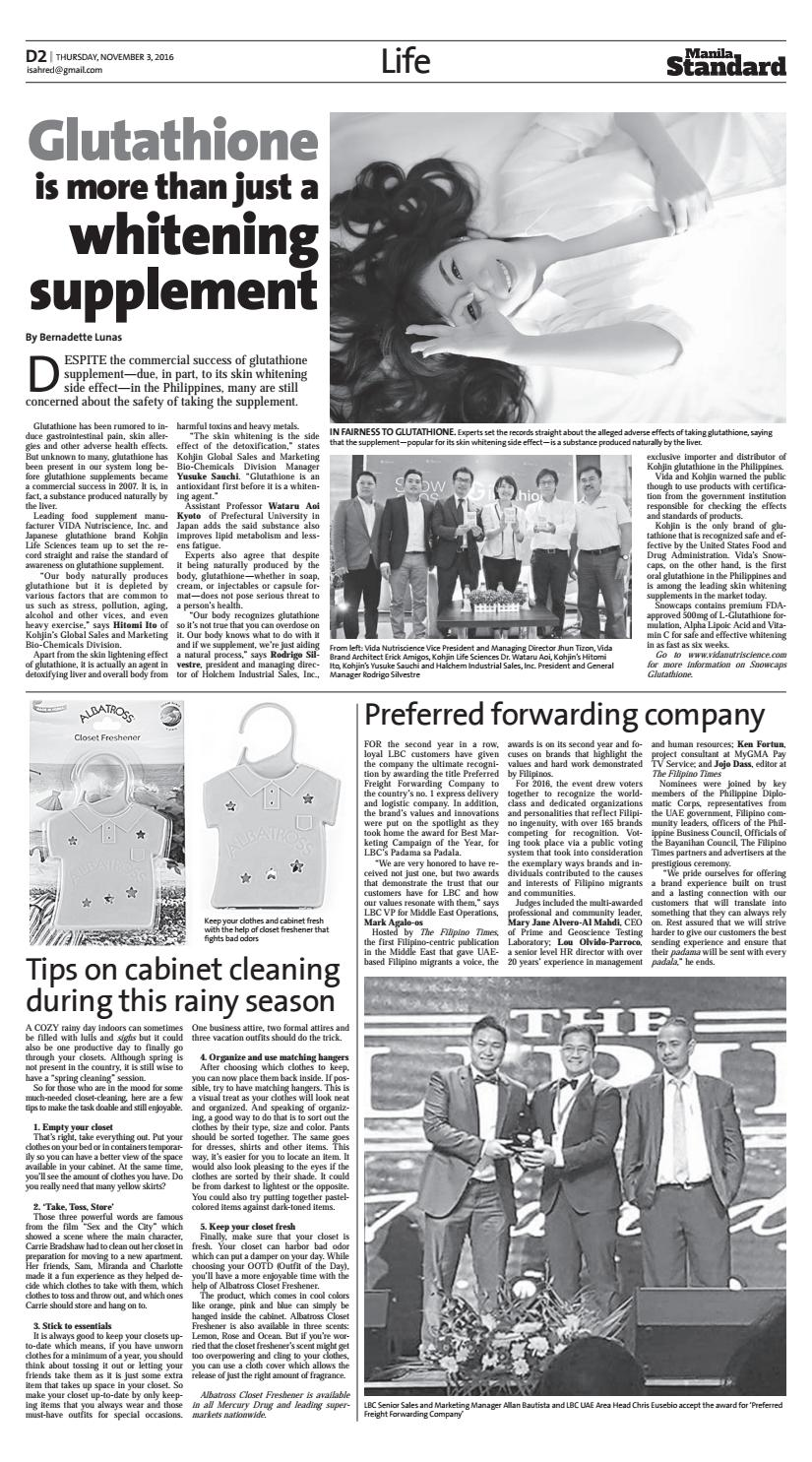 Manila Standard - 2016 November 03 - Thursday by Manila
