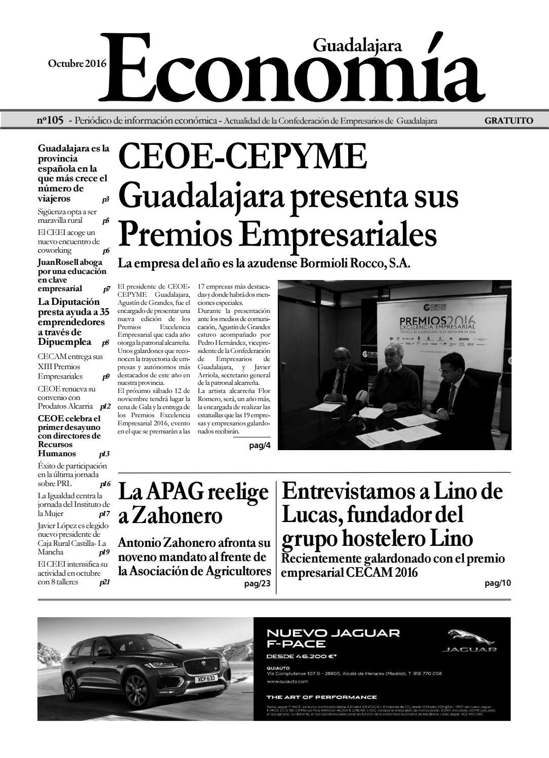 Econom A De Guadalajara Octubre 2016 N 105 Maquetaci N 1 1 By  # Muebles Julian Navalon Guadalajara