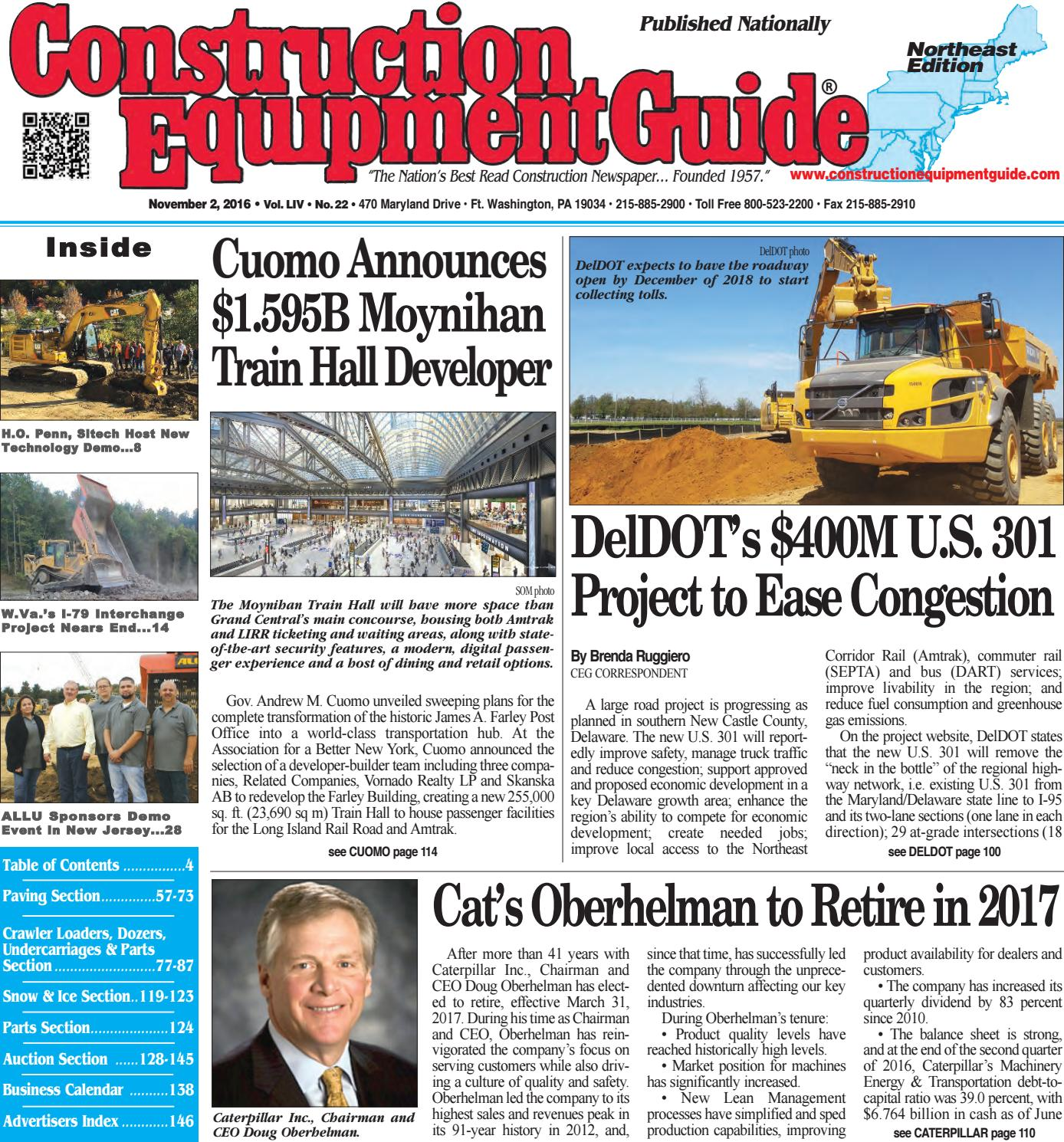 Northeast 22 November 2 2016 By Construction Equipment Guide Issuu Door Closure Wiring Diagram 279c Cat