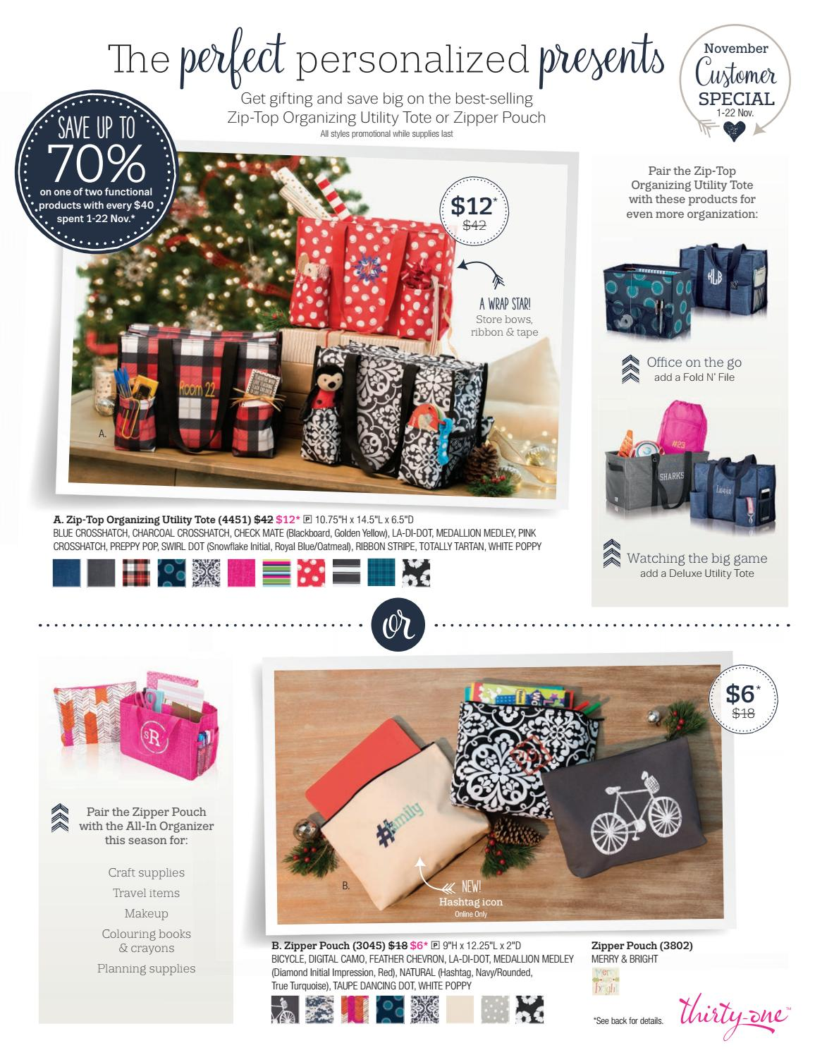 Thirty One Gifts November 2016 Specials By Noreen Smith Issuu
