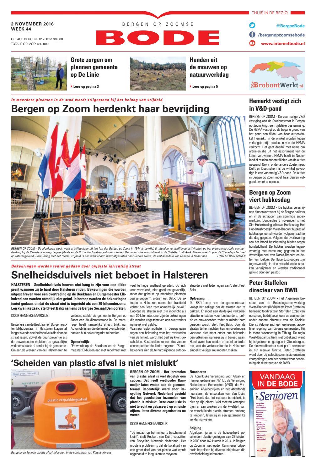Bergen op Zoomse Bode 02-11-2016 by Uitgeverij de Bode - issuu