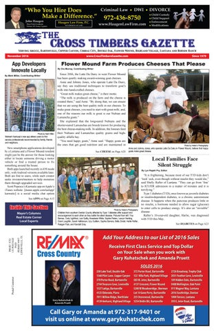 d5ec3467e The Cross Timbers Gazette November 2016 by The Cross Timbers Gazette ...