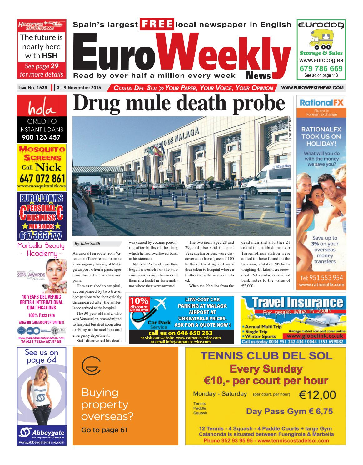 Euro Weekly News - Costa del Sol 3 - 9 November 2016 Issue 1635 by Euro  Weekly News Media S.A. - issuu 05117a617