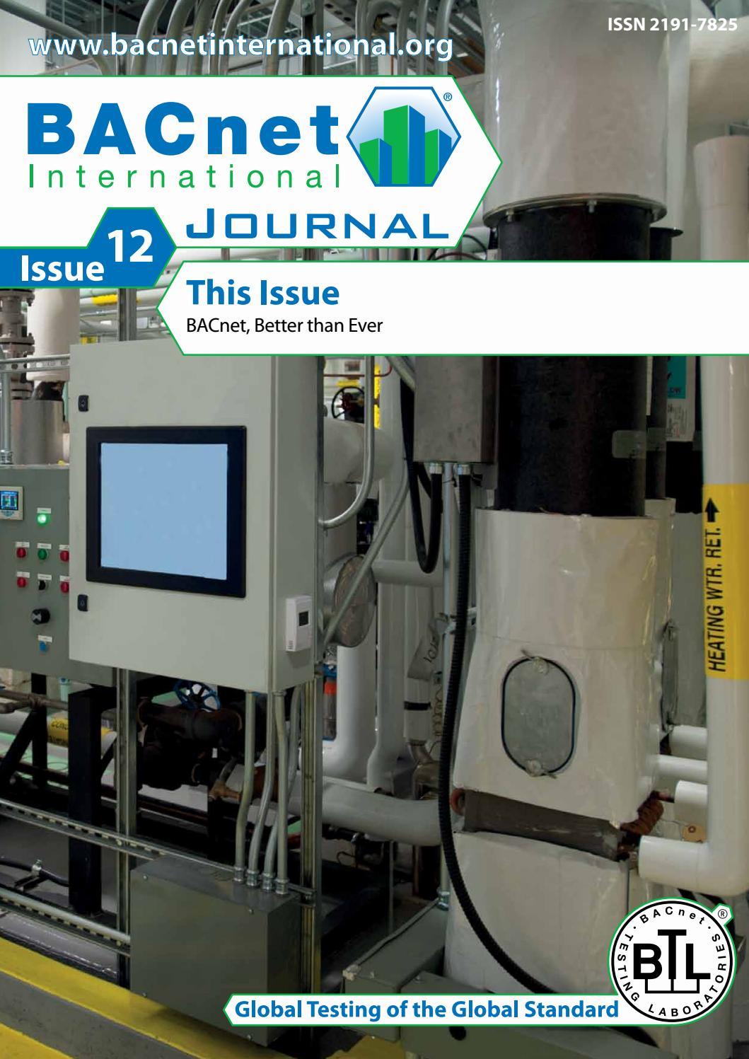 BACnet International Journal Issue 12 By BACnet