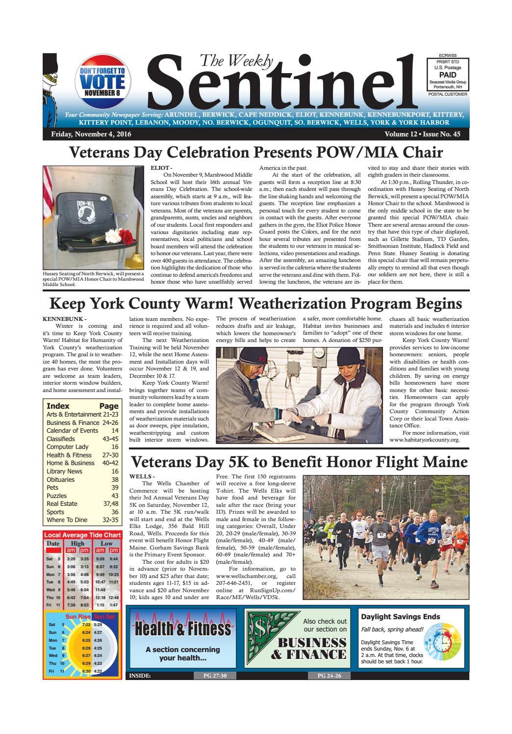 WS Nov. 4, 2016 by Weekly Sentinel - issuu
