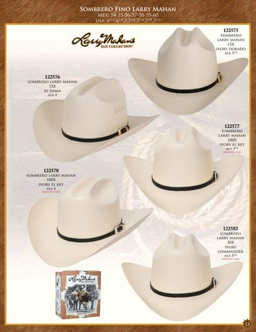 Sombrero Fino Larry Mahan Mex  54-55-56-57-58-59-60 usa  63 4   45f6ed5145b