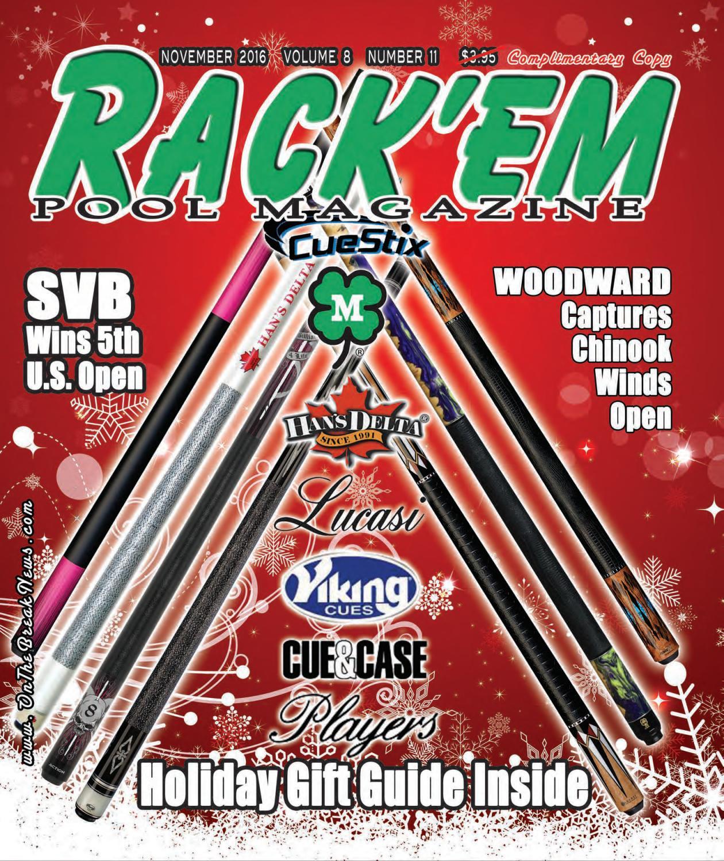 Rackem Pool Magazine November Issue 2016 by Rackem Magazine