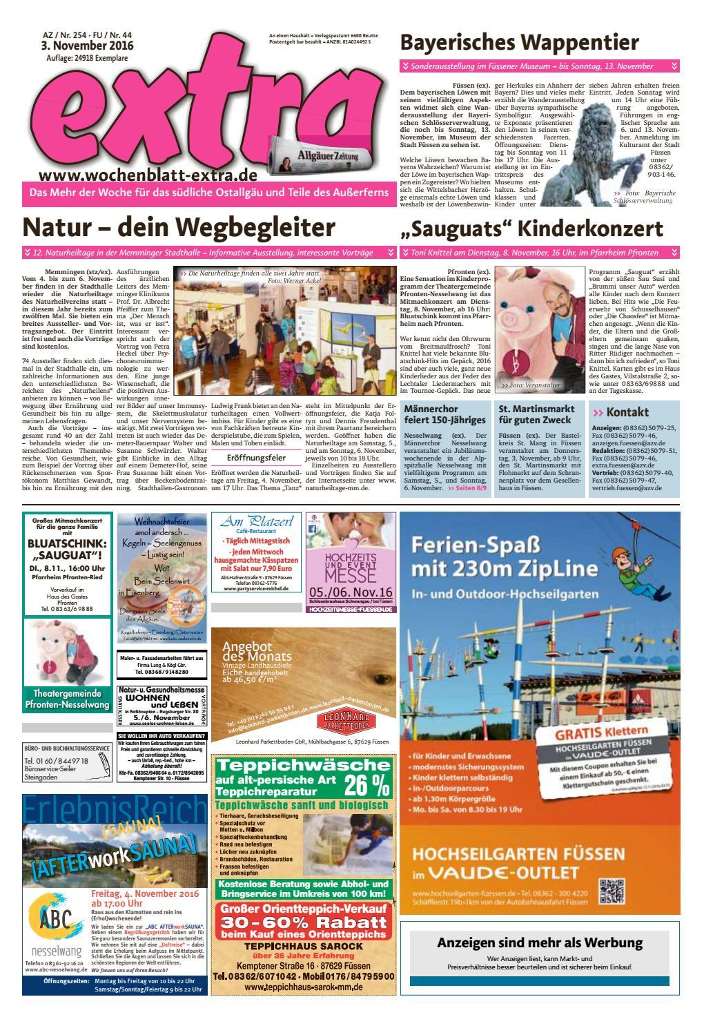 extra Füssen vom Donnerstag, 3. November by rta.design GmbH - issuu