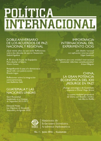 Revista pol tica internacional by minex guatemala oficial for La politica internacional