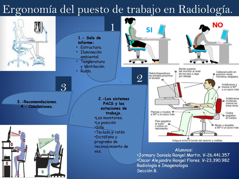 Ergonom a del puesto de trabajo en radiolog a by for Ergonomia en el puesto de trabajo
