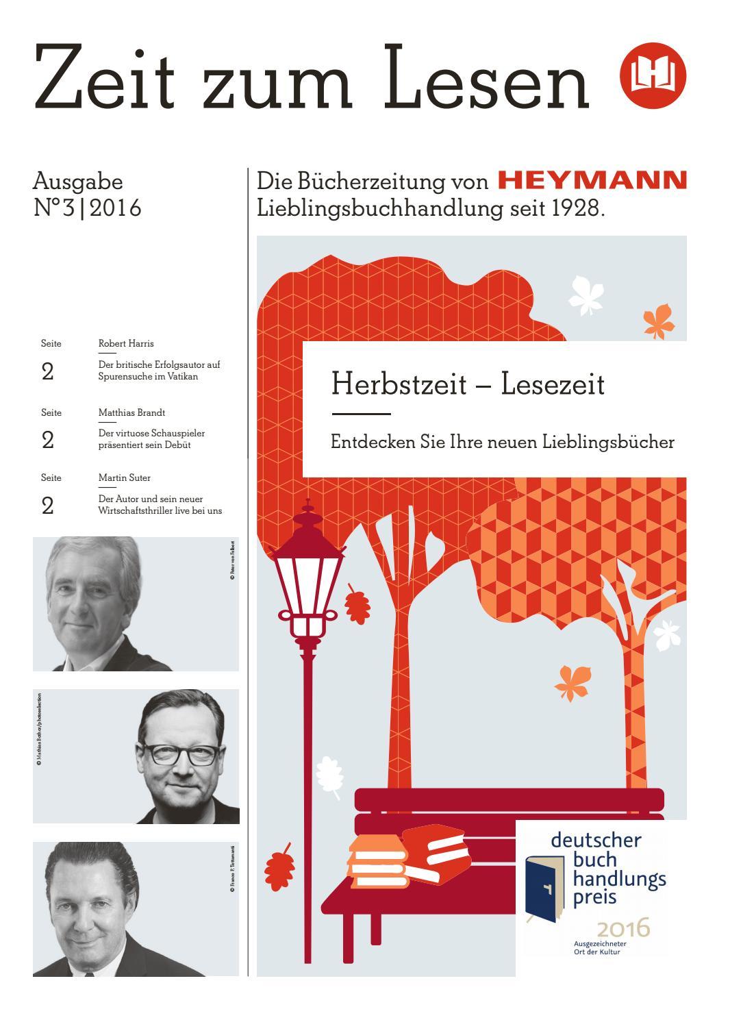 Buchhandlung Heymann - Zeit zum Lesen No. 3 - 2016 by Buchwerbung ...