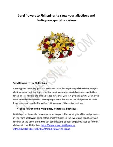 Page 1. Send flowers to Philippines ...