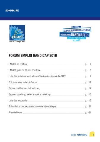 36b3f452394c69 Guide du Forum Emploi Handicap by LADAPT - issuu