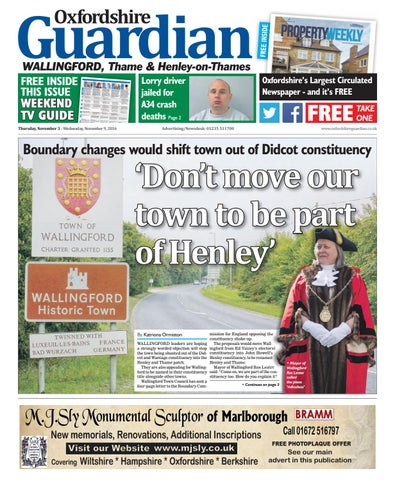 0f1ada5781 03 november 2016 guardian wallingford by Taylor Newspapers - issuu