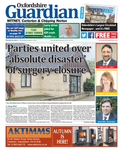 95ffe27e33 03 november 2016 guardian witney by Taylor Newspapers - issuu
