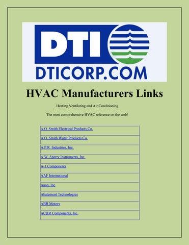 HVAC Manufacturers Links by Julian Arhire - issuu