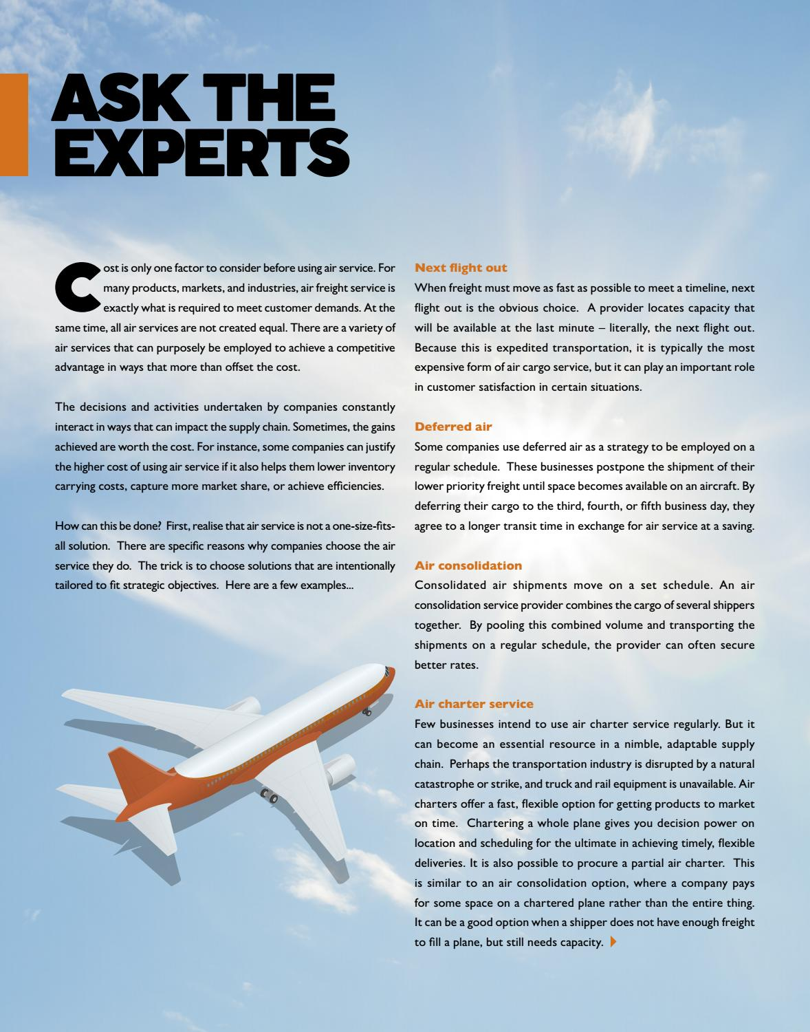 FORWARDER magazine October 2016 'Air freight'