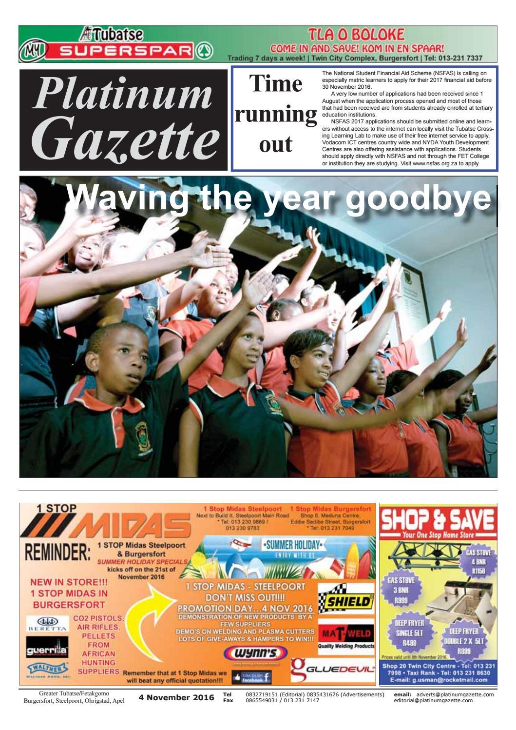 dfbac530437440 Platinum Gazette 04 November 2016 by Platinum Gazette - issuu