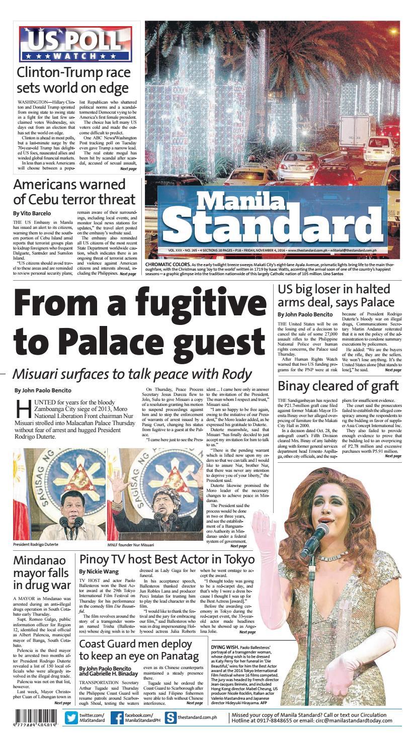 Manila standard november friday manila standard issuu