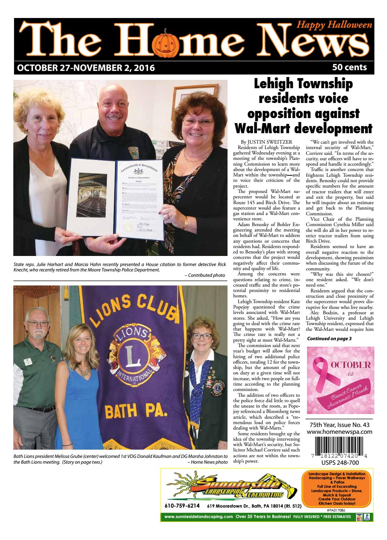 The Home News October 27 - The Home News October 27 By Innovative Designs & Publishing, Inc