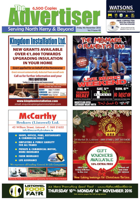 Regina Cantillon uselesspenguin.co.uk, D.C. Tralee & Listowel Clinic Rates