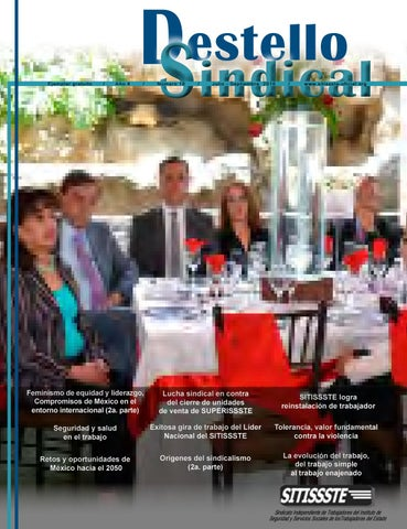 Destello Sindical 18a. edición SITISSSTE by SITISSSTE - issuu