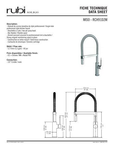 Miso Kitchen Faucet