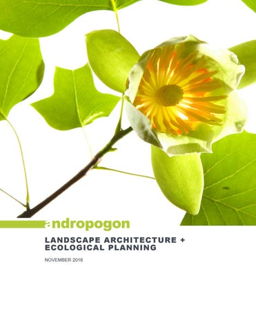 Architecture Design Ecological Planning landscape architecture + ecological planningandropogon
