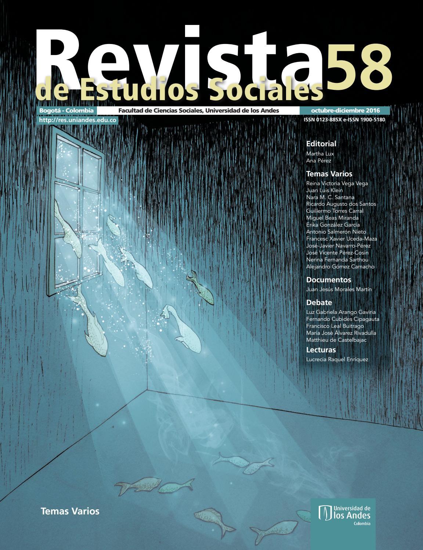 8ee4b9763946 Revista de Estudios Sociales No. 58 by Publicaciones Faciso - issuu