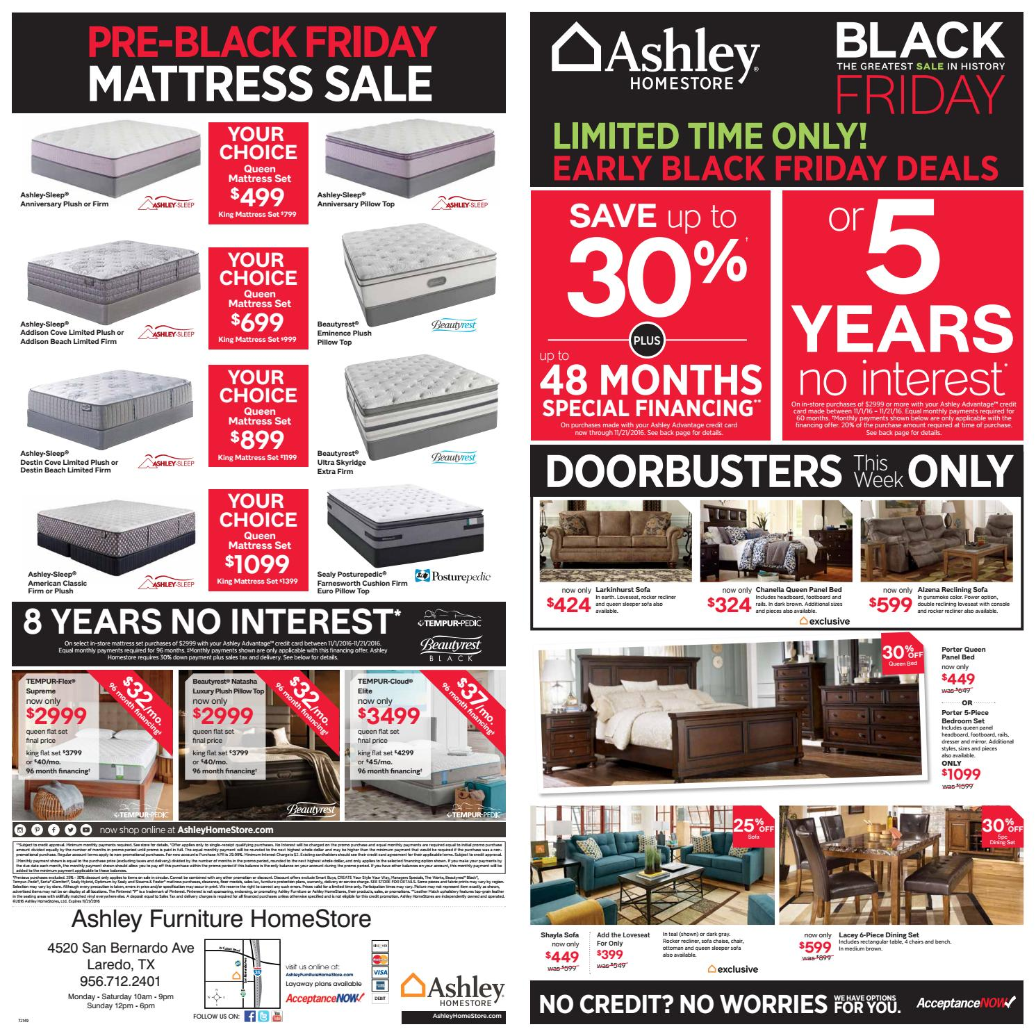 Ashley Furniture Black Friday Ads 2016: Pre-Black Friday Event By Ashley Furniture HomeStore Of