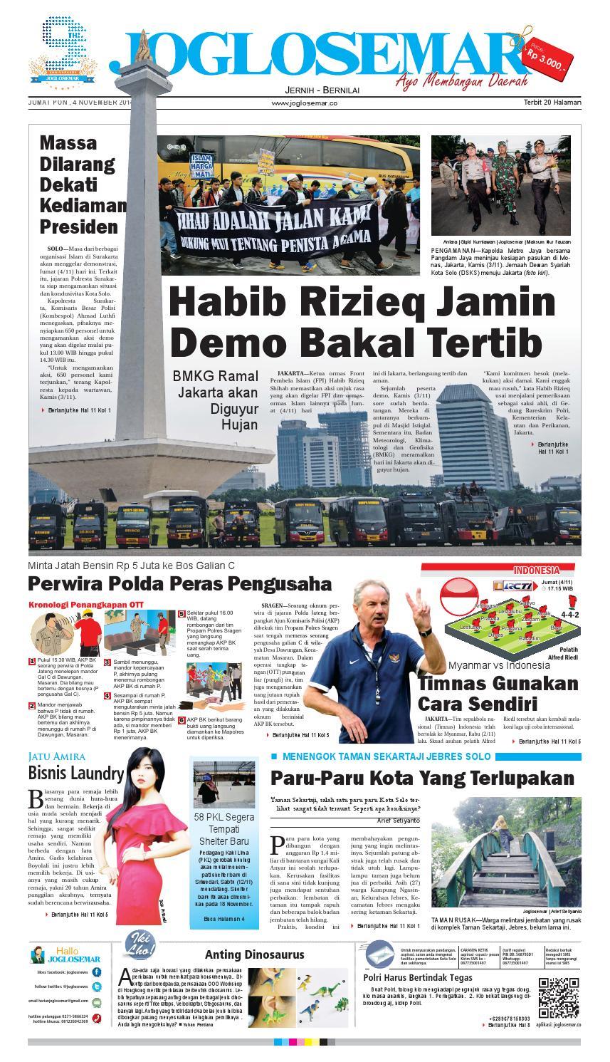 E Paper 04 November 2016 By Pt Joglosemar Prima Media Issuu