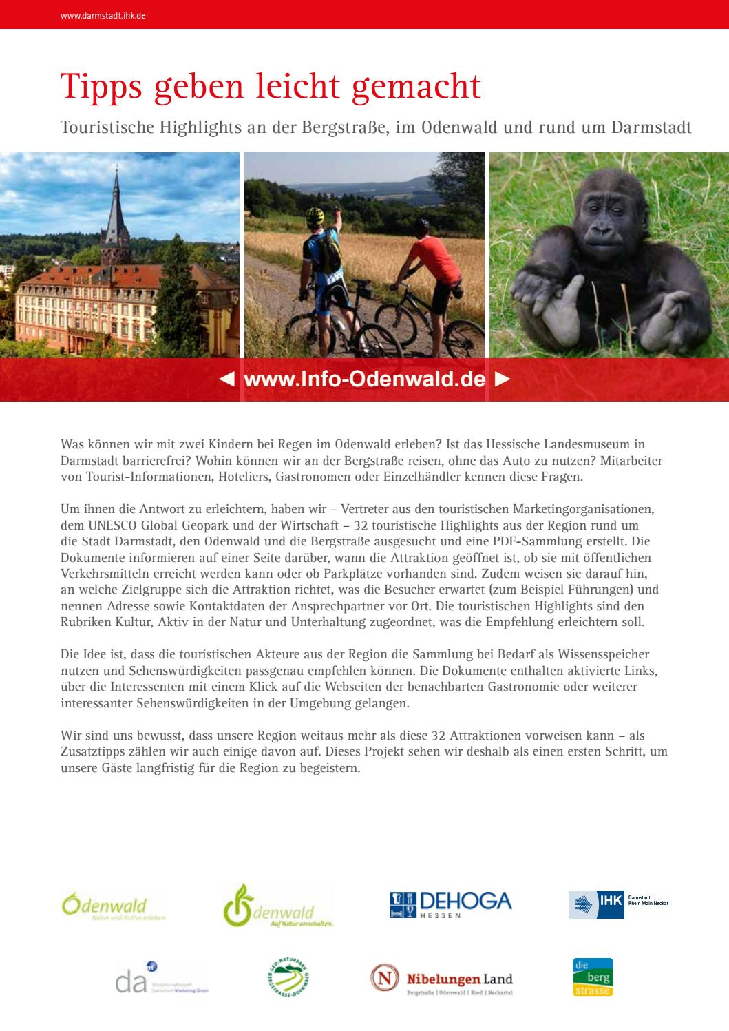 32 Touristische Highlights der Regionen Darmstadt, Odenwald ...