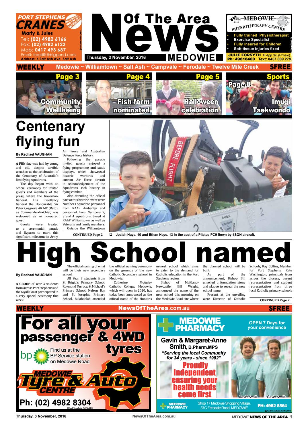 Medowie news of the area 3 november 2016 by News Of The Area - issuu
