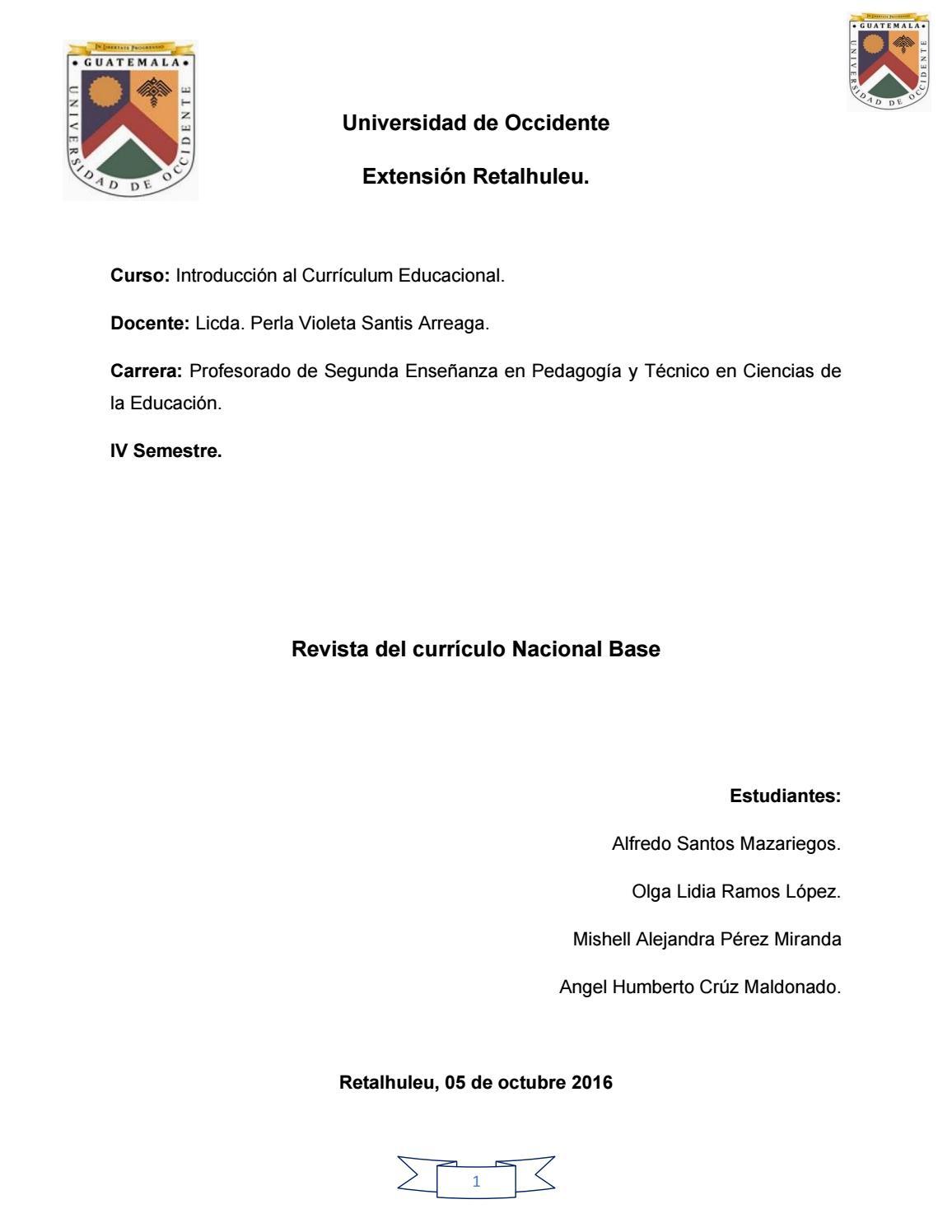 Revista de Introducción al Curriculum Educacional by Legan Cruz - issuu