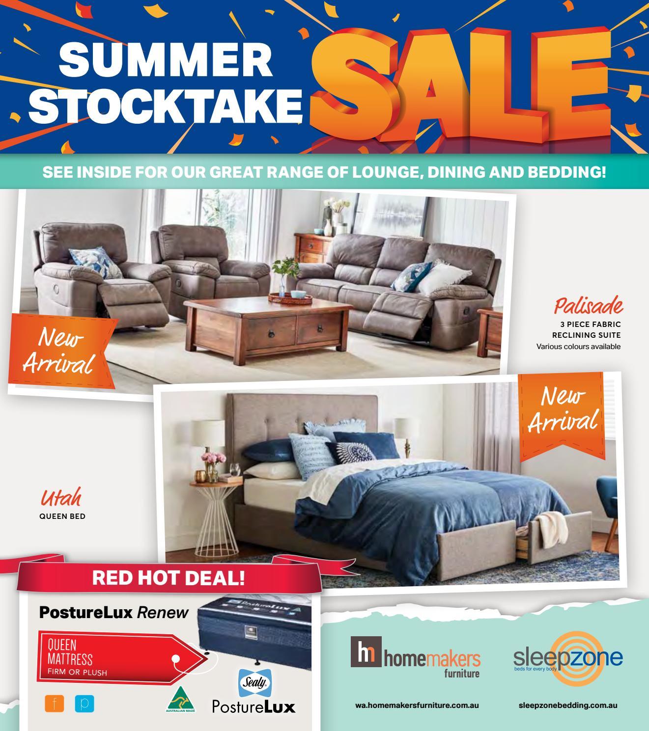 Homemakers Sleepzone Summer Stocktake Sale CatalogueNov16 by