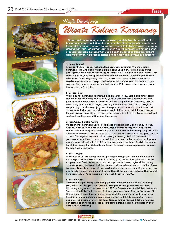 Karawang Business Edisi 016 01 November 2016 By Karawang