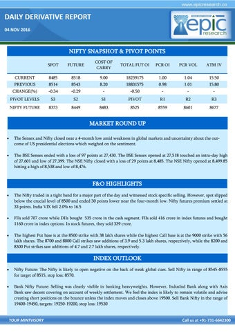 bce79ed937c52 Epic research s daily derivative market report 4th november 2016
