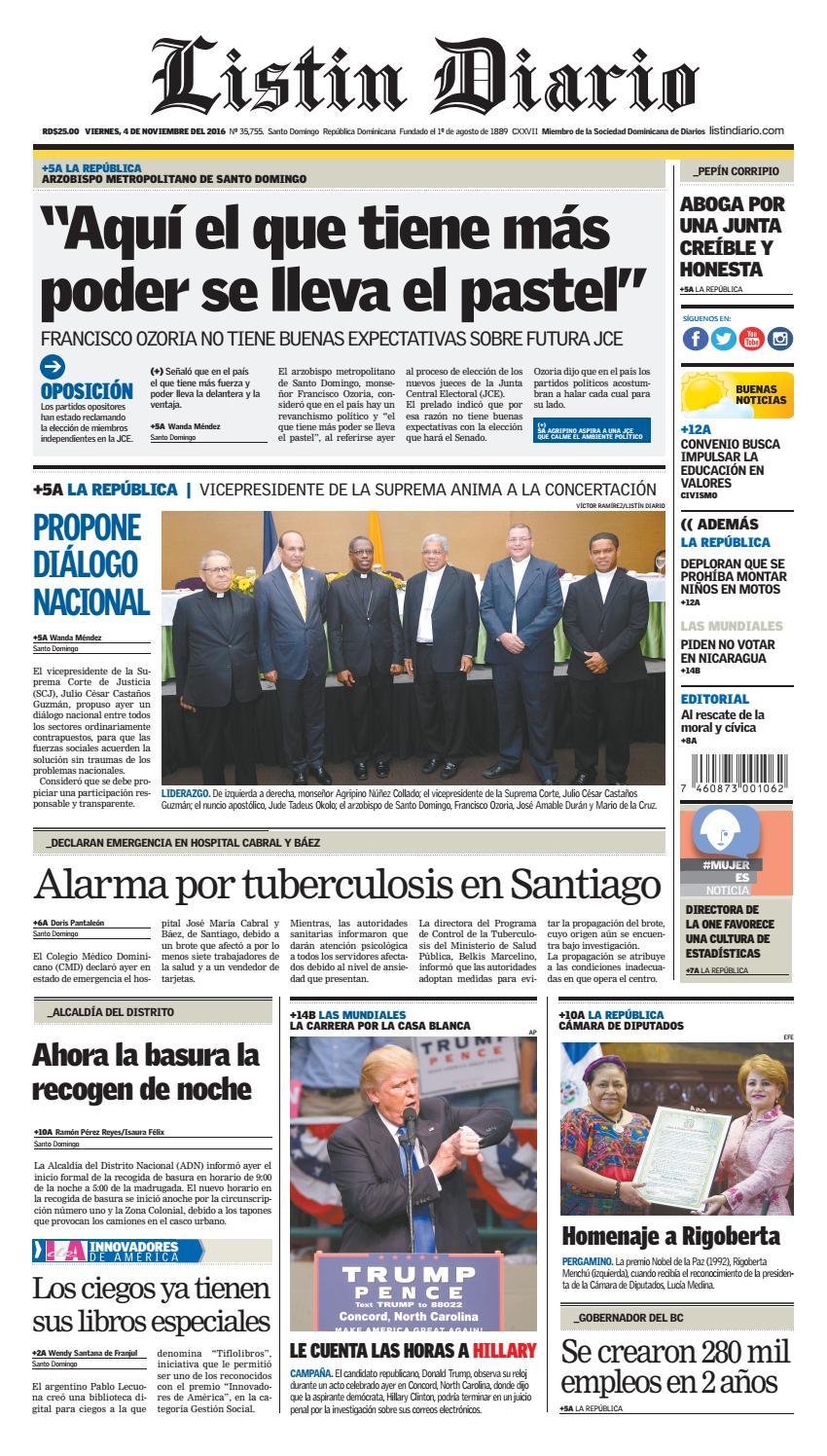 newest 00500 65c05 LD 04112016 by Listín Diario - issuu