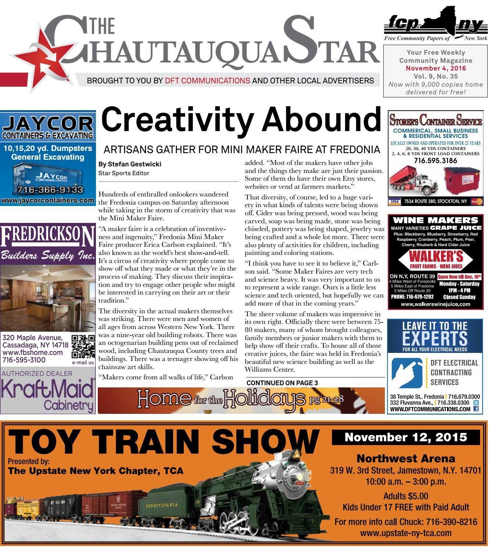 Chautauqua Star, November 4, 2016 by The Chautauqua Star - issuu