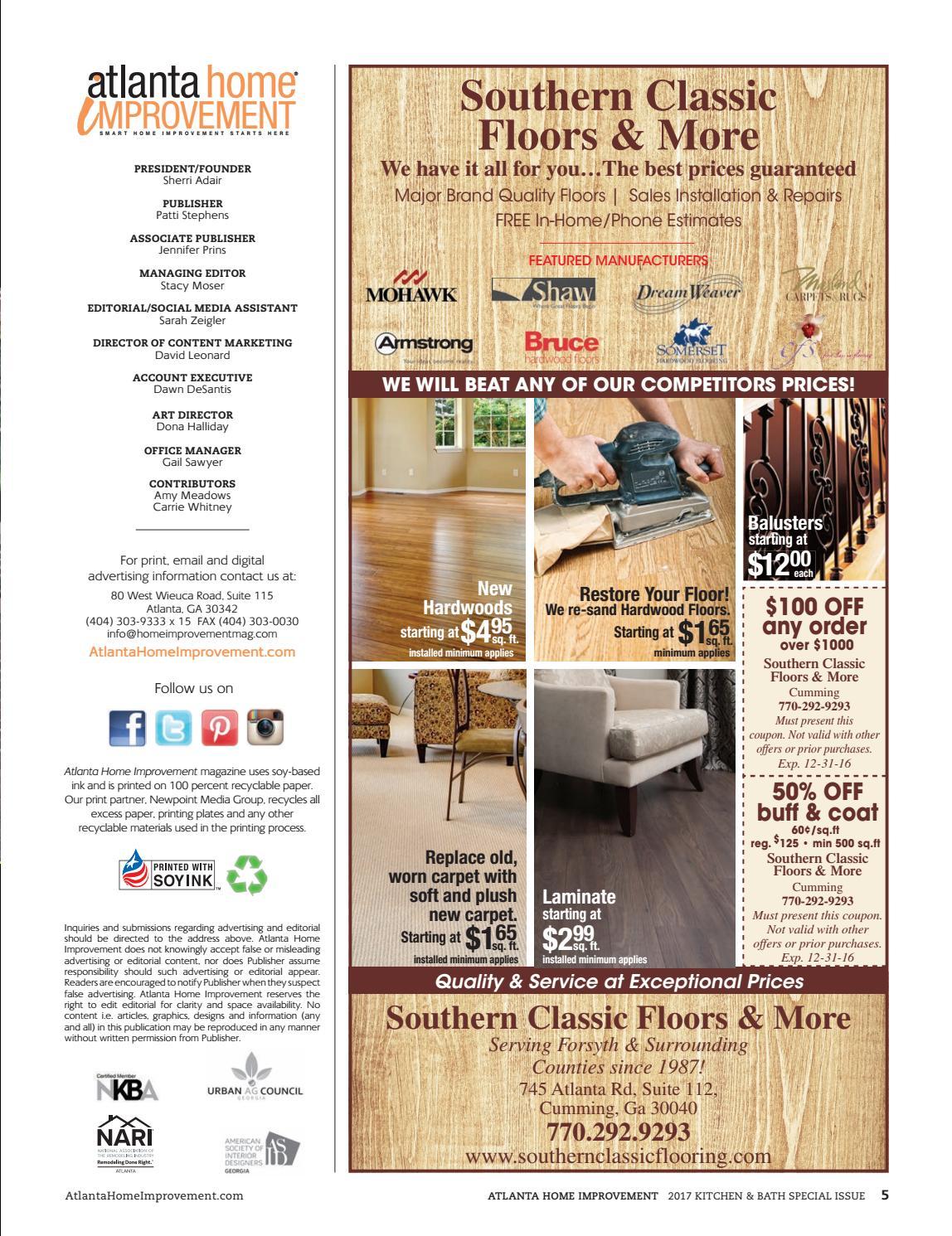 Atlanta Home Improvement 2017 Kitchen Amp Bath Special Issue