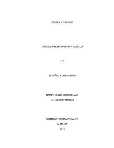 Crimen Y Castigo Pdf By Marialejandra Hanrryr Issuu