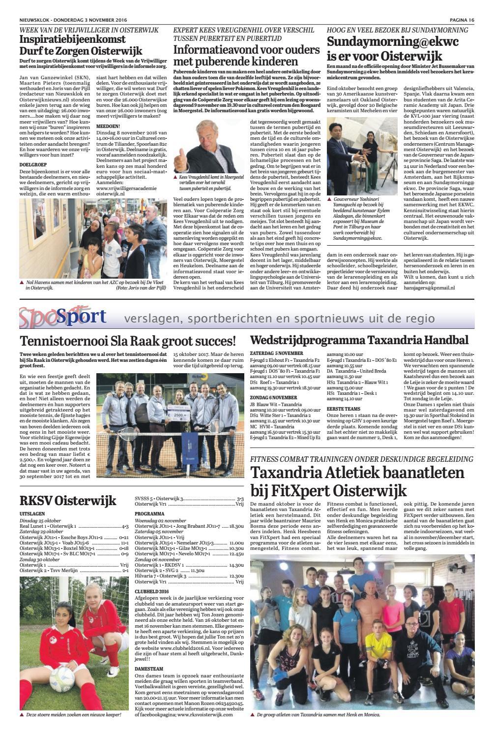 Nieuwsklok 03-11-2016 by Uitgeverij Em de Jong - issuu ab77c039eba1